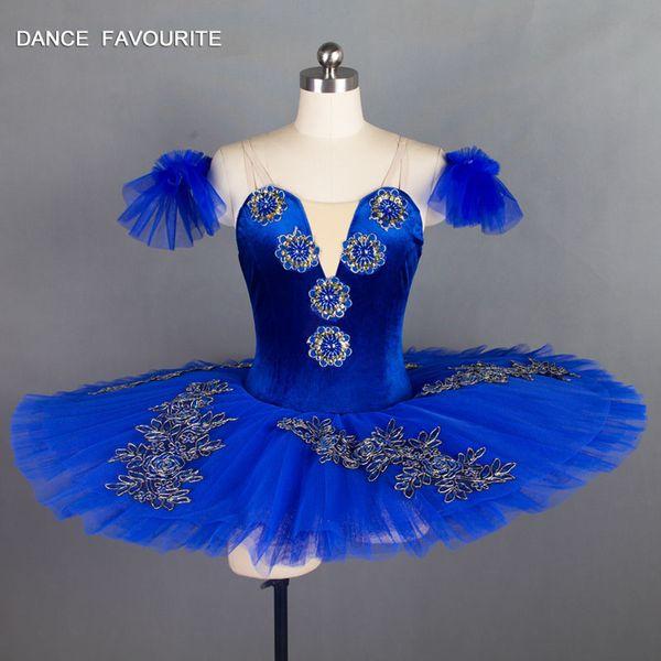 Royal Blue Velvet Bodice Pre-professionelle Ballett-Tutu Mädchen Frauen Ballett Tutu Ballerina Dance Kostüme