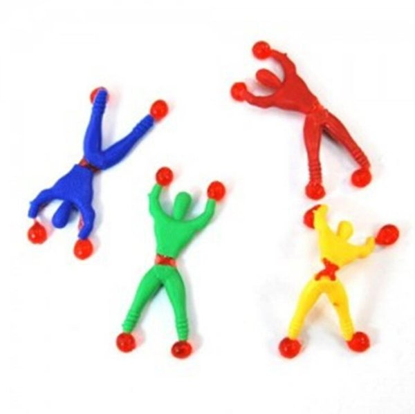 best selling New peculiar creative fun soft rubber climbing wall people Superman children's toys automatically flip with a spider-man small gift