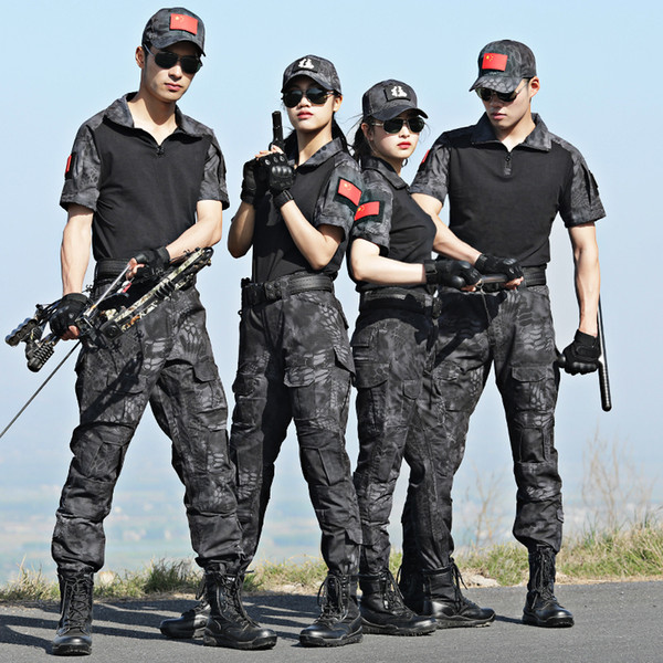 Summer Camouflage Hunting Clothes Men Women Uniforme Militar Female Hunting Clothing Army Combat Shirt CS Ghillie Suit
