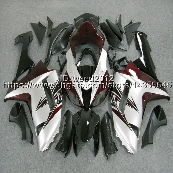 23colors+5Gifts red black white motorcycle hull ZX-6R 07-08 636 ZX6R fairing for Kawasaki Ninja zx6r 2007 2008