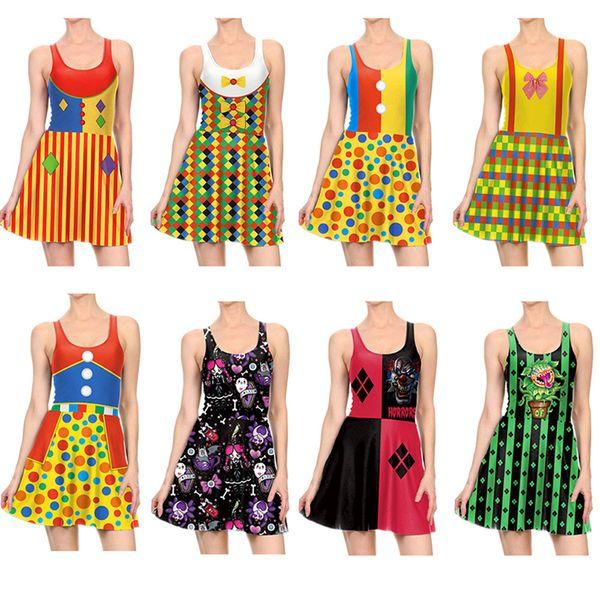 Compre Vestido De Fiesta De Halloween Mujeres Calabaza Calavera Gotas De Sangre Impreso Diseño Vestidos Ropa Cosplay Vestir 3d Impreso Disfraces Chica