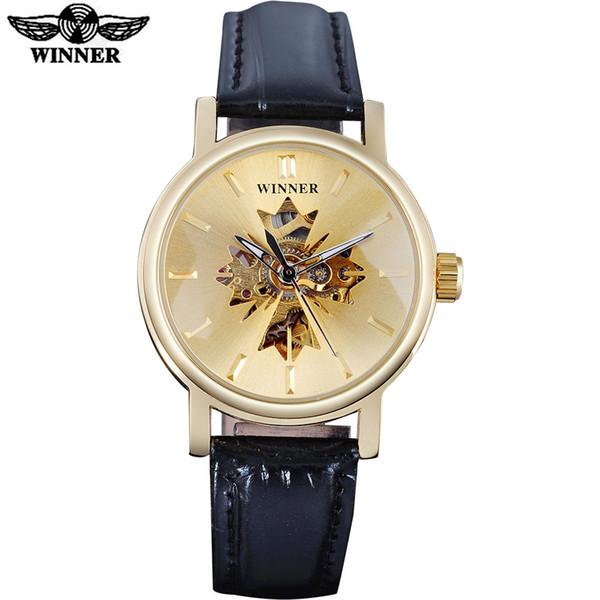Relojes de omen Relojes mecánicos 2017 GANADORES famosas mujeres relojes de lujo automático auto reloj reloj esqueleto diales transparen ...