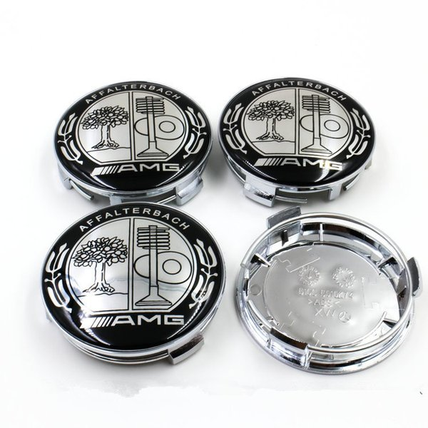 Hot 4pcs /lot 74mm black Apple Tree wheel center cover for AMG color Apple Tree with chrome base car styling
