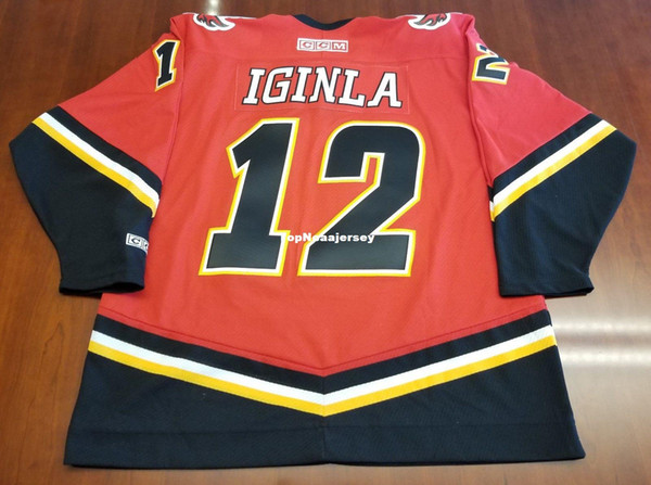 wholesale dealer 71be8 bc111 2019 Wholesale Jarome Iginla Vintage Calgary Flames CCM Cheap Hockey Jersey  Red Mens Retro Jerseys From Topncaajersey, $25.2 | DHgate.Com