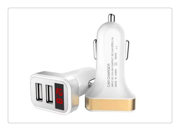 New USB Auto-Oplader met LED Screen Smart Auto Charger Adapter Opladen voor iPhone 7 Samsung Xiaomi Auto Mobiele telefoon opladers