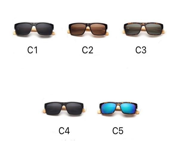 68c101ea3291 2018 Bamboo Sunglasses Mercury Lenses Wood Temples Square Plastic Frame  Hand Made LOGO Engraved OEM Wholesale
