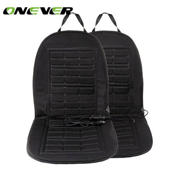 Onever 2pcs Car Heated Seat Cushion Cover Seat Supplies Heating Warmer Car Seat Cushion Heated Keep Warm Winter Car Styling