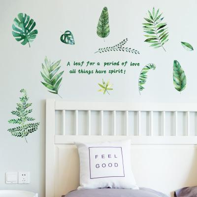 Wholesale EU Style Green Plant Wall Stickers Wallpaper Wall Picture Art Room Home Decor Kitchen Accessories Household Crafts Suppllies
