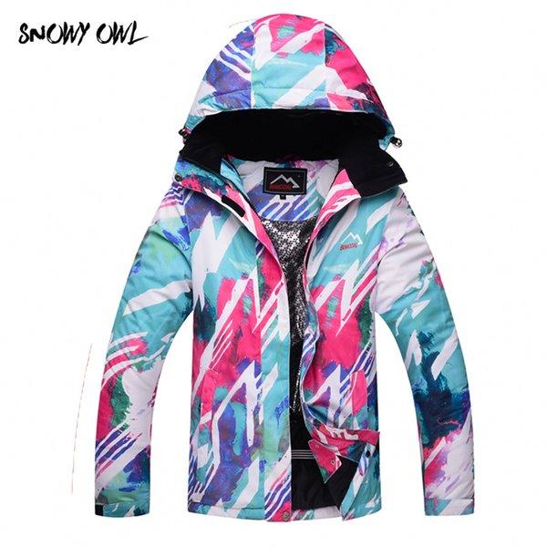 Envío gratis mujeres snowboard chaquetas invierno impermeable sólido gruesa indumentaria snowboard chaqueta esquí paño h200