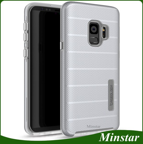 50PCS New Luxury Stripe Rugged Case Gold Silver Comfortable Touch Cases For Samsung Galaxy J7 2016 J7 J5 2015 J2 Prime Grand Prime G530