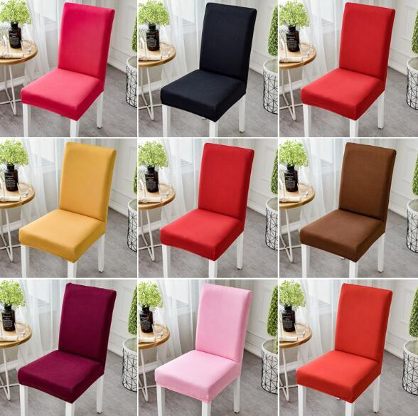 Spandex Folding Chair Covers Elastic Solid Colors Dining Seat Chair Covers White Wedding Christmas Decoration Chair Cover