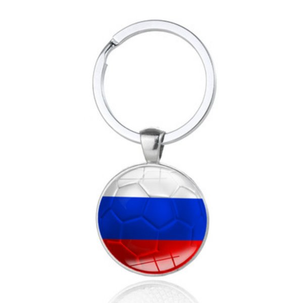 New Arrival 2018 World Cup Football Key Chain National Flag Gem Keychain Creative Key Chain Pendant Gifts Party Decorations