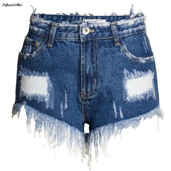 Summer Fashion jean Shorts woman ripped shorts Hole jeans for women Streetwear pantalon femme denim