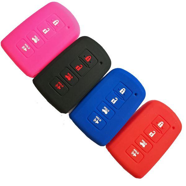 Custodia protettiva in silicone Smart Key Fob Custodia protettiva per Toyota Highlander RAV4 Camry Avalon Corolla 4 pulsanti Smart portachiavi telecomando