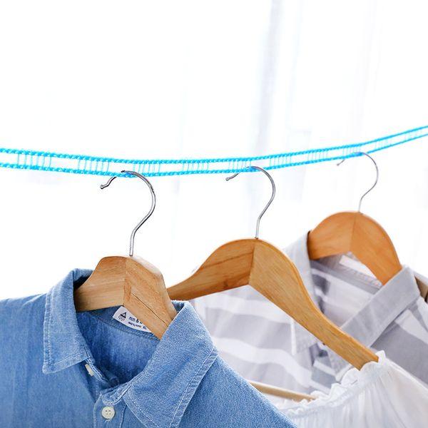 Camping en plein air Voyage cintre coupe-vent cordes à linge anti-dérapant vêtements séchage rack style de barrière sécheuse 3m / 5m longue corde à linge
