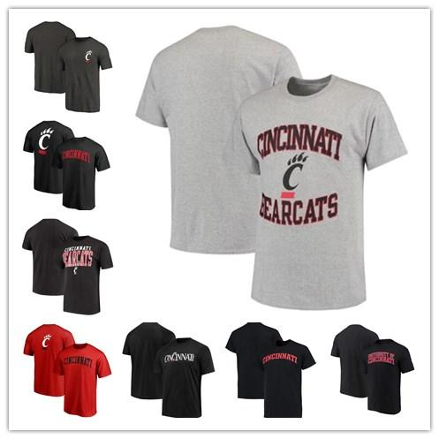 Mens Cincinnati Bearcats Fanatics Branded Champion Core Mascot Performance T-Shirt black red grey size S-XXXL free shipping
