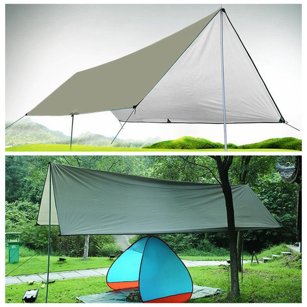 top popular Waterproof Camping Mat 3*4M Mattress Outdoor Tent Cloth Multifunction Awning Tarps Canopy Picnic Mat Ground Mats LJJO5662 2021