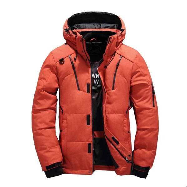 2018 Men Fashion Brand Down Jacket Winter Down Coat Parka White Duck Short Section Thickening Business Jackets Coat Hood