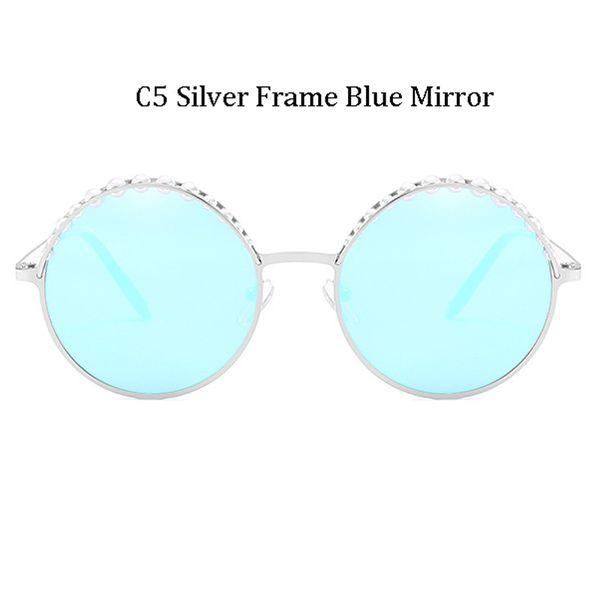 C5 Silver Frame Silver Mirror