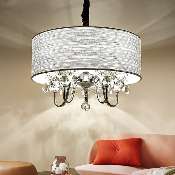 Moderna lampada a sospensione K9 cristallo tondo arte panno studio lampade sospese Cafe Apparecchio Illuminazione LED Lampadario per sala da pranzo hotel bedroo