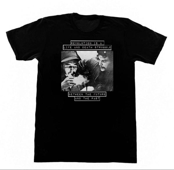 Fidel Castro Che Guevara T-shirt Communist Soviet BLM Black Lives Cool Short Sleeve Men T Shirt Men Short Sleeve Tee