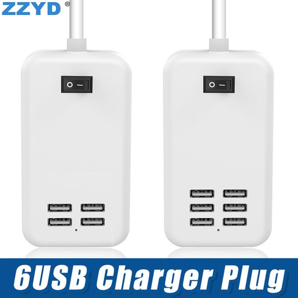 ZZYD USB Charger Plug US EU Plug 5V 4A Power Adapter per iPhone Samsung con pacchetto Retail