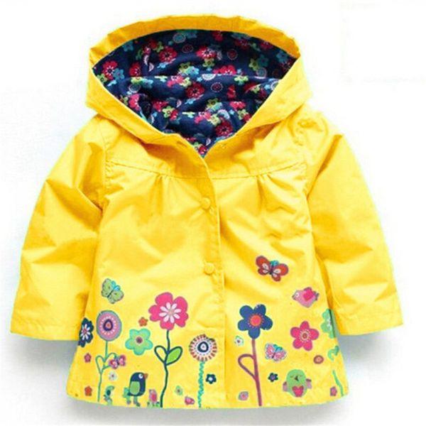 Fashion 2018 Girls Jacket Girls Windbreaker Children's Jackets Kids Raincoat outerwear & coats Children Jacket Clothes