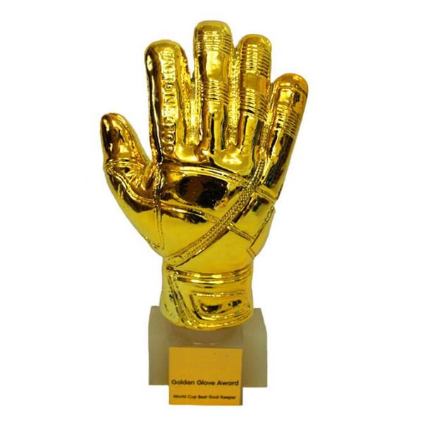Soccer Football Resin GOALKEEPER Golden Glove Award World Cup Trophy Golden Goalkeeper Award Fans Souvenirs World Cup CCA9742 1pcs
