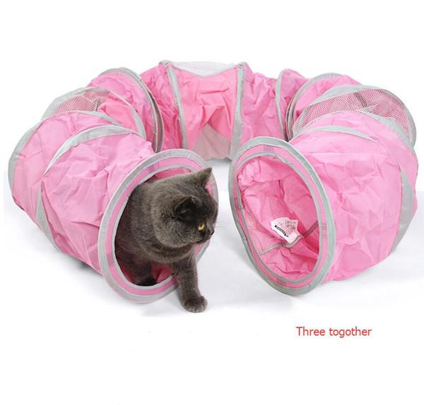 e7907559f76b07 Großhandel Faltbare Haustier Katze Tunnel Spielzeug Indoor Outdoor Haustier  Katzen Ausbildung Spielzeug Kätzchen Kaninchen Lustige Spiel