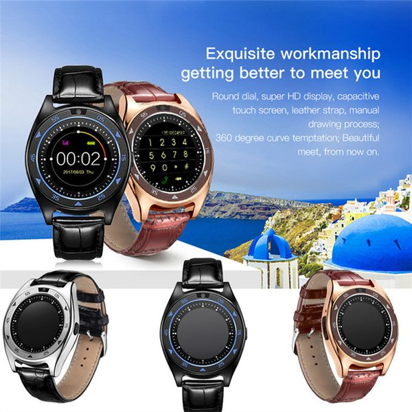 2018 TQ920 Heart Rate Blood Pressure Monitor Slot Wrist Waterproof Bluetooth Smart Watch Phone Sim Card Pedometer Monitor with Camera