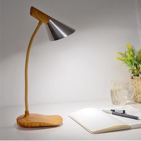 Interruptor táctil Lámpara de mesa ajustable Multi-ángulos Lámparas de lectura LED Lámparas de mesa Batería recargable de luz ajustable S30