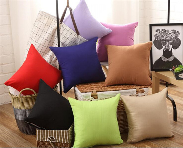 best selling 45 * 45CM Home Sofa Throw Pillowcase solid Color Pillow Cover Cushion Cover Decor Pillow Case Blank christmas Decor Gift C168