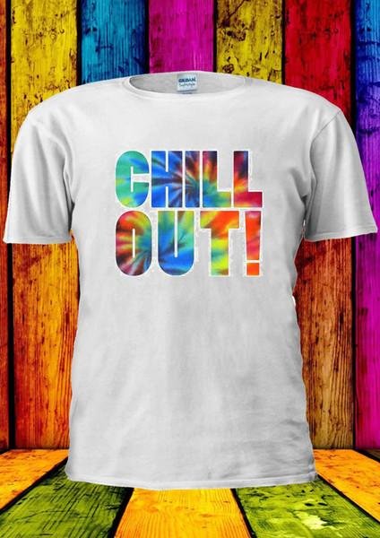 Chill Out vacances d'été en gros Tumblr Remise T-shirt Gilet T Hauts Hommes Femmes Casual Cool Fierté T-shirt unisexe hommes Nouveau mode T-shirt