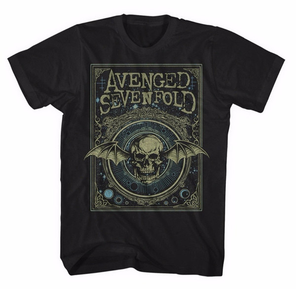 Cool Shirts Online Short Sleeve Graphic O-Neck Avenged Sevenfold Ornate Death Bat Mens T-Shirt Nuovo E Originale Tees For Men