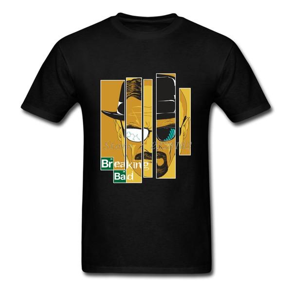 Breaking Bad Herren T-Shirt Rolle DIY Schwarz T-Shirts Mann O-Neck 80er Jahre Heisenberg T Shirts Camisetas