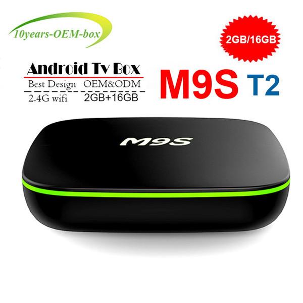 Best M9S T2 Allwinner H3 1G 8G 2GB 16GB Android 7.1 TV BOX Quad Core Ultra HD H.265 4K Stream Media Player Better Amlogic S905W TX3 X96 mini