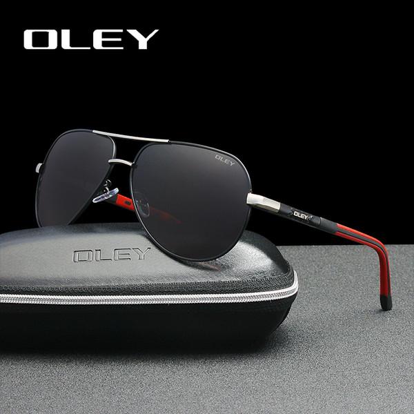 7db4130125cd OLEY Men sunglasses Aluminum magnesium polarized pilot glasses Fashion  Classic Pilot Summer Protection sun glasses Goggles