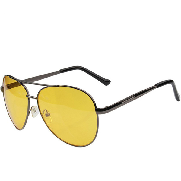 Caikolly Fashion Pilot Night Vision Sunglasses Driving Yellow Lens Classic Anti Glare Vision Gafas de seguridad para el conductor para hombres