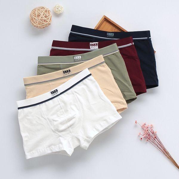 5 Pcs/Lot Organic Cotton Kids Boys Underwear Pure Color Babys Shorts Panties Boys Boxer Children's Teenager Underwear 3-16 Year