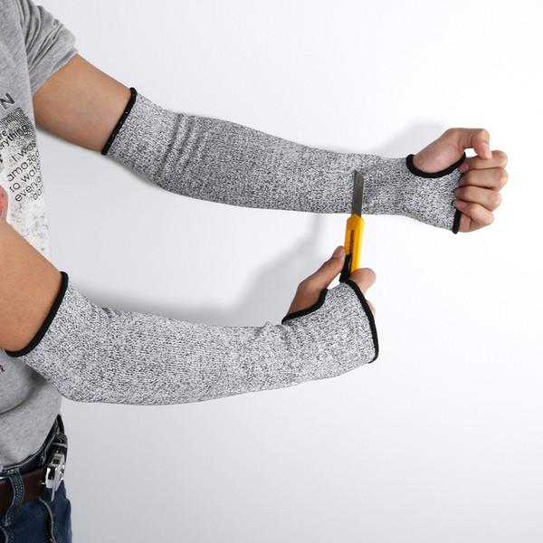 NOVITÀ Guanti resistenti al calore tagliati al taglio grigio Guanti protezione bracciali protezione bracciali Protezione antinfortunistica sul posto di lavoro Una coppia