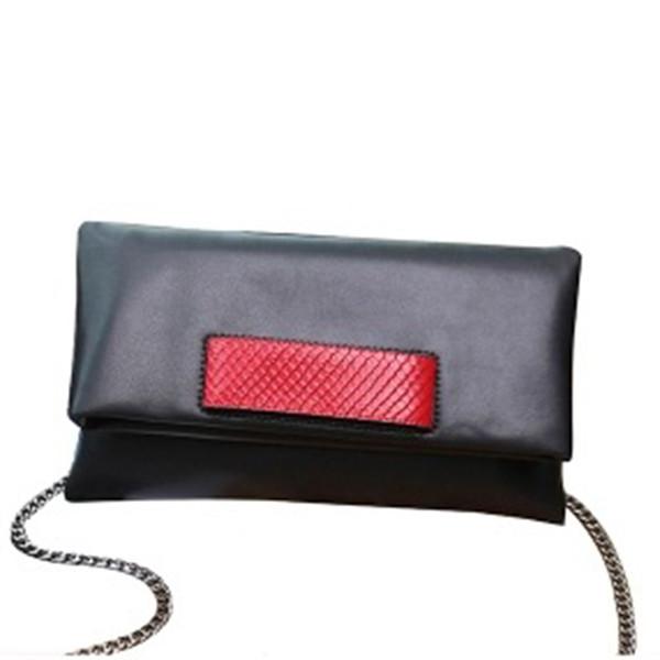 Famous design purse Genuine Leather women clutch bag female fashion handbag cowhide leather shoulder bag female envelope