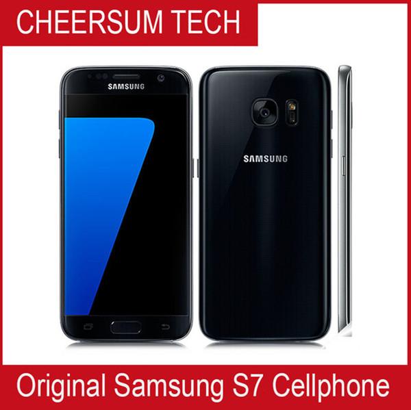 Chegada nova Remodelado Original Samsung Galaxy S7 G930 G930 G930 G930 G930G Desbloqueado Telefone Octa Núcleo 4 GB / 32 GB 5.1 Polegadas 12MP telefone desbloqueado