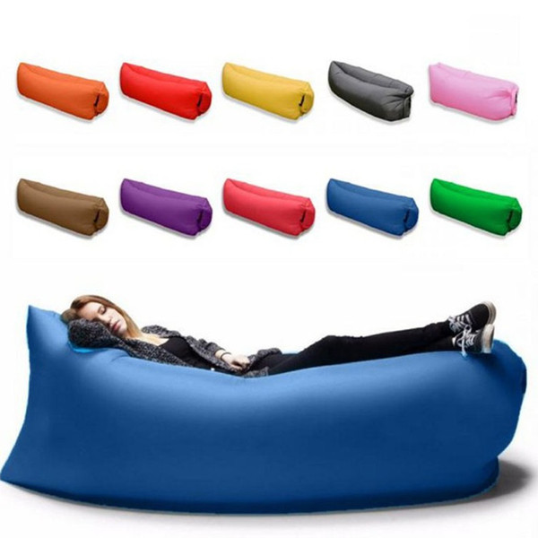 Lounge Sleep Bag Lazy Inflatable Beanbag Sofa Chair Living Room Bean Bag Cushion Outdoor Self Inflated Furniture sleeping bed wn522 30pc