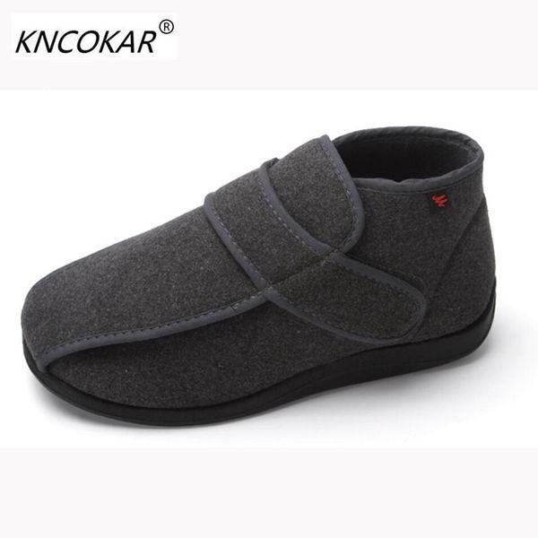 Großhandel Heiße Neue Hohe Hilfe Warme Männer Schuhe Mit Breiten Schuhen Füße Breite Füße Und Geschwollene Füße Verstellbare Blind Date Komfortable