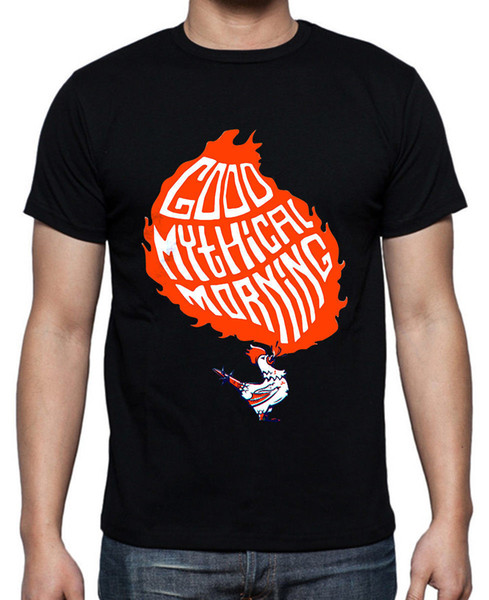 Good Mythical Morning Short Sleeve Black T-shirt Size S To 3XL Great Discount Cotton Men Tee 2018 New Mens T Shirts