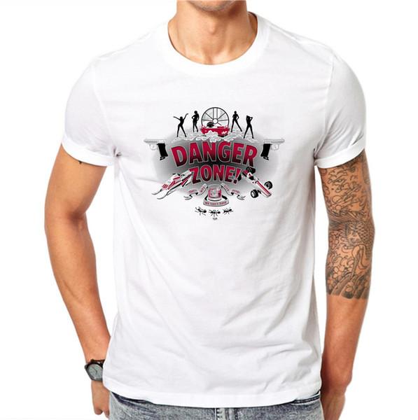 100% Cotton Wholesale Discount Zone Letter Print Men Summer Tops Tees Men O - Neck Short Sleeve Fashion T-shirts Plus Size