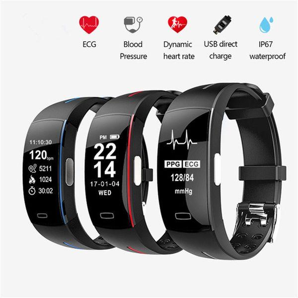 Akıllı Bilezik P3 Kan Basıncı EKG + PPG Spor Pedometre Cicret Spor İzle Akıllı Bant Aktivite Tracker Akıllı Bileklik