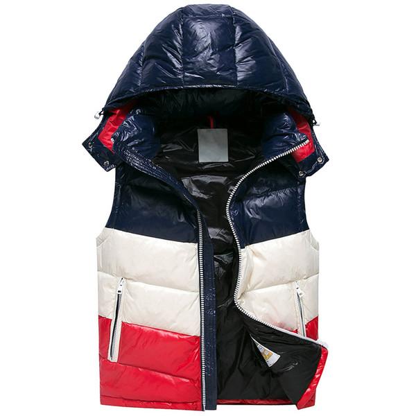 18 anni di vendite calde 90% piumino d'anatra giacche uomo gilet bianco anatra gilet uomo giubbotti invernali gilet uomo di alta qualità