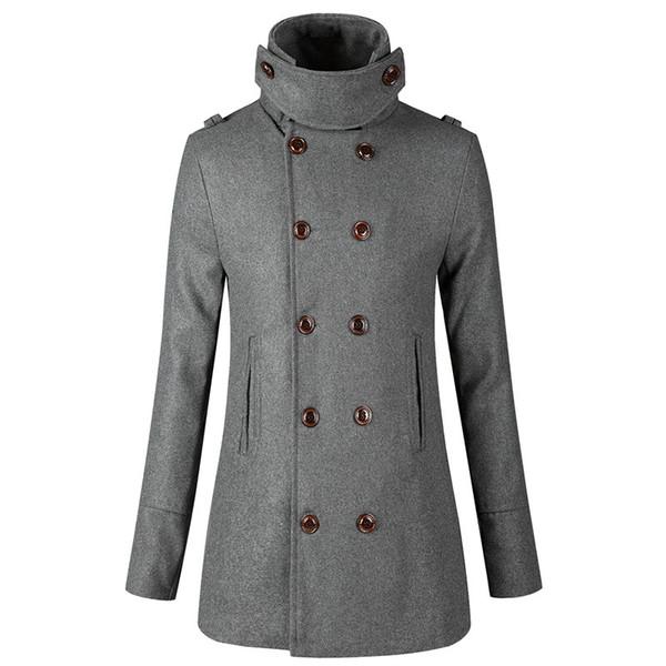 Großhandel 2018 Winter Neue Trenchcoat Männer Jacke Herren Mantel Casual Slim Fit Windschutz Solide Zweireiher Männer Mode Mäntel Homme Von Dalivid,