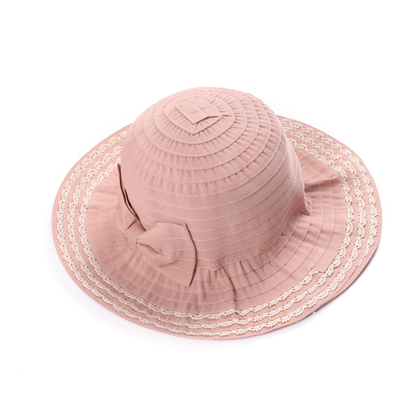 XIANXIANQING 2018 Women's Outdoor bucket Caps Female Dome Hats contracted leisure folding washed soft cloth cap Lady Hat H1017